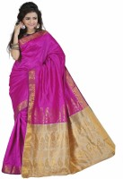 Vastrakala Self Design Fashion Art Silk Saree(Pink)