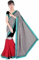 Dancing Girl Printed Bollywood Chiffon Saree(Multicolor)