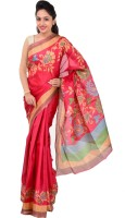 Indrani Printed Bollywood Silk Saree(Red)