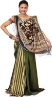 Hawai Striped Tant Silk Saree(Multicolor)