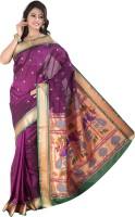 Ishin Woven Kanjivaram Art Silk Saree(Magenta)