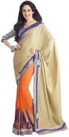Bhavi Solid Fashion Georgette Saree(Multicolor)