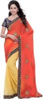 Suvastram Embellished Fashion Georgette Saree(Multicolor)