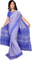 Khoobee Printed Fashion Poly Georgette Saree(Multicolor, Blue)