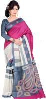 Gugaliya Printed Bollywood Art Silk Saree(Beige, Grey, Maroon)