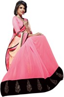 Vishal Solid Fashion Georgette Saree(Pink)