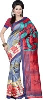 Indrani Printed Bollywood Silk Saree(Multicolor)