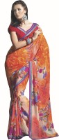 Vaamsi Floral Print Daily Wear Georgette Saree(Multicolor)