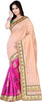 Ansu Fashion Self Design Fashion Brasso Saree(Pink)