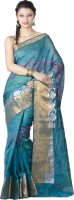 Chandrakala Woven Banarasi Art Silk Saree(Dark Green)
