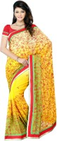 JTInternational Printed Fashion Net Saree(Multicolor)