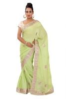Shri Narayan Fashions Self Design Fashion Jacquard Saree(Green)