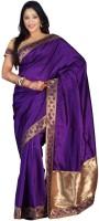 Weavedeal Embellished Banarasi Art Silk Saree(Purple)