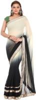 Kataan Bazaar Embroidered Fashion Handloom Georgette Saree(Beige)