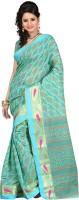 Ansu Fashion Printed Fashion Cotton Saree(Green)