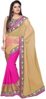 Nairiti Fashions Solid Bollywood Chiffon Saree(Multicolor)