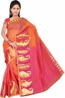 Pavechas Printed Mangalagiri Cotton Saree(Pink)