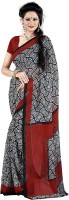 Jiya Self Design, Printed Fashion Poly Georgette Saree(Multicolor, Red, Black)