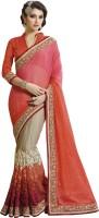 Saara Embroidered Fashion Chiffon Saree(Multicolor)