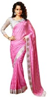 Aksh Fashion Self Design Bollywood Art Silk Saree(Pink)
