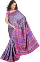 Khoobee Printed Fashion Tussar Silk Saree(Multicolor)