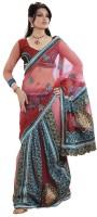 Bahubali Sarees Self Design Lehenga Saree Net Saree(Red)