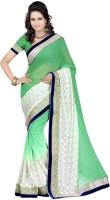 Ansu Fashion Solid Fashion Chiffon Saree(Light Green)