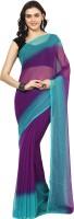 Aksara Printed Daily Wear Chiffon Saree(Multicolor)