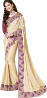 Triveni Self Design Fashion Viscose Saree(Beige)