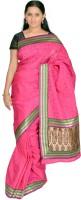 Jagadamba Printed Banarasi Silk Saree(Pink)