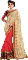 M.S.Retail Self Design Fashion Brasso, Chiffon Saree(Orange)