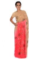Reme Self Design Fashion Georgette Saree(Multicolor)