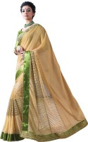 Chirag Sarees Embroidered Bollywood Georgette Saree(Beige)