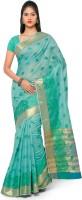 Varkala Silk Sarees Self Design Chanderi Chanderi Saree(Dark Green)
