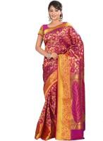 Varkala Silk Sarees Woven Fashion Silk Saree(Pink)