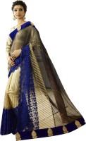 Chirag Sarees Embroidered Bollywood Net Saree(Blue)