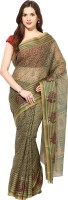 Fostelo Self Design Daily Wear Cotton Saree(Green)