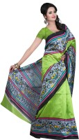 Indrani Printed Bollywood Georgette Saree(Multicolor)