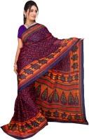 Jiya Self Design, Printed Fashion Chiffon Saree(Multicolor, Purple, Pink)