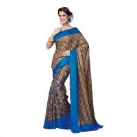 Suvastram Printed Fashion Art Silk Saree(Multicolor)