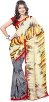 Vaamsi Printed Daily Wear Georgette Saree(Multicolor)