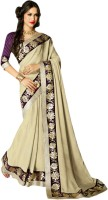 Vishal Printed, Embroidered Fashion Georgette Saree(Beige)