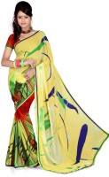 Cenizas Printed Fashion Georgette Saree(Multicolor)