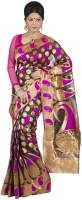 Hawai Self Design Banarasi Georgette Saree(Gold)