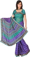 MGS Printed Fashion Synthetic Saree(Multicolor)