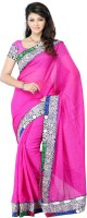JTInternational Self Design Fashion Art Silk Saree(Pink)