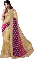 M.S.Retail Embroidered Bollywood Georgette, Brasso, Net Saree(Multicolor)