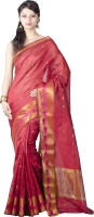 Chandrakala Woven Banarasi Silk Saree(Red)