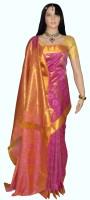 Lakshmi Lifestyle Self Design Kanjivaram Handloom Silk Saree(Pink)