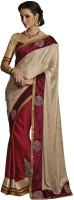 Desi Butik Self Design Fashion Jacquard Saree(Gold)